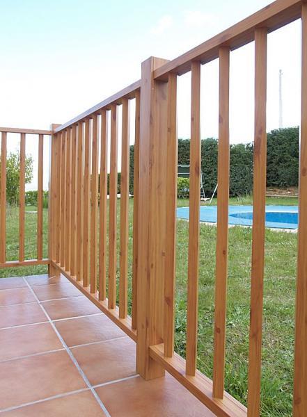 Cerrajer a gil carpinter a de hierro y aluminio vall d 39 alba castell n - Barandilla de madera exterior ...